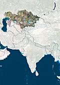 Kazakhstan,satellite image