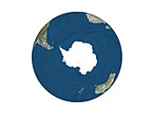 Antarctica,relief map