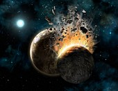 HD 131488 planetary collision,artwork