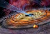 Pulsar planetary disc,artwork