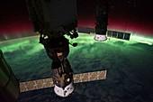 Aurora,ISS image