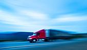 Truck on motorway