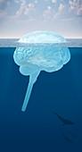 Unconscious mind,conceptual artwork