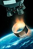 Saturn V interstage separation,artwork