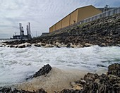 Effluent from nuclear power station