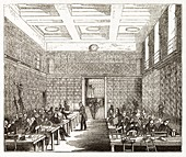 British Museum library,19th century