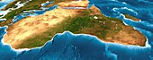 Africa,3D artwork