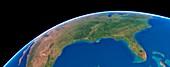 US Southern States,satellite artwork