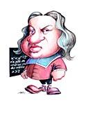 Pierre de Fermat,caricature