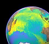 Indian Ocean,surface temperatures
