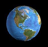 The Americas,sea floor topography