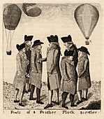 Balloonists cartoon,1785