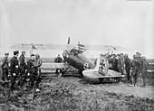 Captured German aeroplane,World War I