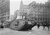 British tank in New York,World War I