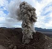 Mount Bromo erupting,Indonesia,2011