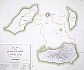 Krakatoa map,1885