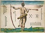 Native American chief,16th century