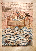 Noah's Flood,14th-century manuscript
