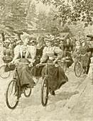 Cycling in Battersea Park,1890s