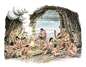 Palaeolithic human culture,artwork