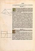 Euclid's Elements of Geometry,1482