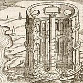 Nilometer in Egypt,17th-century artwork