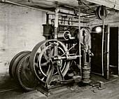 Otis elevator engine,1932