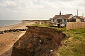 House in danger from coastal erosion