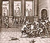 Death of Inca ruler Atahualpa,1533