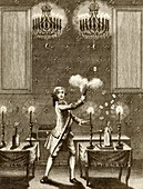 Conjuring performance,18th century