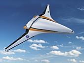 N3-X hybrid wing aircraft,artwork