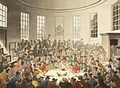 Cockfighting in London,1808