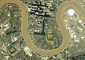 Isle of Dogs,aerial photograph