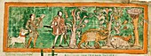Hogs and hunting dogs,11th century