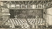 Game of real tennis,17th century