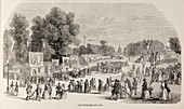 Fairground in a Paris park,June 1848