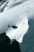 Helicopter rescue,French Alps