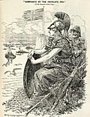 Britannia surveying the British fleet