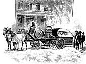 Snow-melting machine,New York,1890s