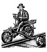 Railway velocipede,1880s