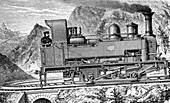 Fell mountain railway system,1880s
