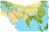 Geography of Asia,artwork