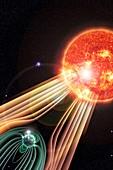 Earth's magnetosphere,artwork