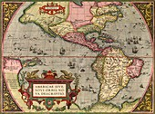 Ortelius's map of The New World,1603