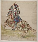 A mounted knight