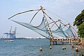 Coastal fishing nets in India