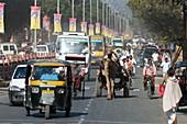 Road traffic in India