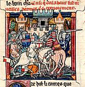 Galahad and Gawain in tournament