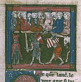 Lancelot fights Sir Mador