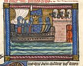 Crusaders before a Saracen town